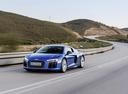 Фото авто Audi R8 2 поколение, ракурс: 45 цвет: голубой