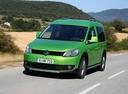 Фото авто Volkswagen Caddy 3 поколение [рестайлинг], ракурс: 45 цвет: зеленый