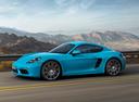Фото авто Porsche Cayman 982, ракурс: 90 цвет: аквамарин