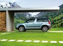 Фото авто Skoda Yeti 1 поколение, ракурс: 90 цвет: синий