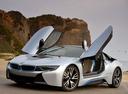 Фото авто BMW i8 I12, ракурс: 45 цвет: серебряный