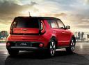 Фото авто Kia Soul 2 поколение [рестайлинг], ракурс: 225 цвет: красный