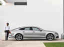 Фото авто Audi S7 4G, ракурс: 270 цвет: серый