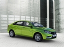 Фото авто ВАЗ (Lada) Vesta 1 поколение, ракурс: 315 цвет: зеленый