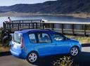 Фото авто Skoda Roomster 1 поколение, ракурс: 270 цвет: голубой