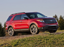 Фото авто Ford Explorer 5 поколение, ракурс: 315 цвет: красный