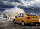 Фото авто ВАЗ (Lada) Granta 1 поколение, ракурс: 135 цвет: оранжевый