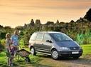 Фото авто Volkswagen Sharan 1 поколение [2-й рестайлинг], ракурс: 315 цвет: серый