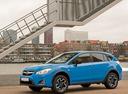 Фото авто Subaru XV 1 поколение [рестайлинг], ракурс: 45 цвет: голубой