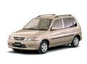 Фото авто Mazda Demio DW, ракурс: 45 цвет: бежевый