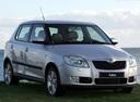 Фото авто Skoda Fabia 5J, ракурс: 315 цвет: серебряный