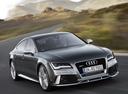 Фото авто Audi RS 7 4G, ракурс: 315 цвет: серый