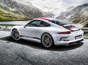 Фото авто Porsche 911 991 [рестайлинг], ракурс: 135 цвет: белый
