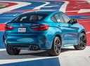 Фото авто BMW X6 M F86, ракурс: 225 цвет: голубой