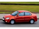 Фото авто Kia Rio 2 поколение [рестайлинг], ракурс: 90 цвет: красный
