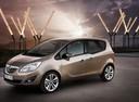 Фото авто Opel Meriva 2 поколение, ракурс: 45 цвет: серый