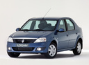 Фото авто Renault Logan 1 поколение [рестайлинг], ракурс: 45 цвет: синий