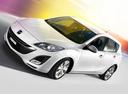 Фото авто Mazda 3 BL, ракурс: 45 цвет: белый