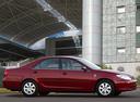 Фото авто Toyota Camry XV30, ракурс: 270 цвет: красный