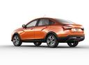 Фото авто ВАЗ (Lada) Vesta 1 поколение, ракурс: 135 - рендер цвет: оранжевый