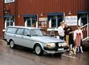 Фото авто Volvo 240 1 поколение, ракурс: 315 цвет: серебряный
