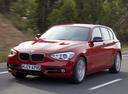 Фото авто BMW 1 серия F20/F21, ракурс: 45 цвет: красный