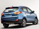 Фото авто Hyundai ix35 1 поколение [рестайлинг], ракурс: 225 цвет: голубой