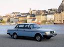 Фото авто Volvo 240 1 поколение, ракурс: 315 цвет: голубой