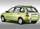 Фото авто ВАЗ (Lada) Kalina 1 поколение, ракурс: 135 цвет: зеленый