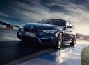 Фото авто BMW M3 F80 [рестайлинг], ракурс: 45 цвет: синий