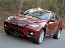 Фото авто BMW X6 E71/E72, ракурс: 45 цвет: красный