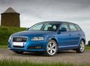 Фото авто Audi A3 8P/8PA [2-й рестайлинг], ракурс: 45 цвет: синий