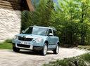 Фото авто Skoda Yeti 1 поколение, ракурс: 45 цвет: синий