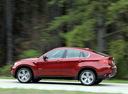 Фото авто BMW X6 E71/E72, ракурс: 90 цвет: красный