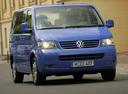 Фото авто Volkswagen Multivan T5,  цвет: синий