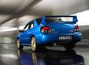 Фото авто Subaru Impreza 2 поколение [2-й рестайлинг], ракурс: 135 цвет: синий