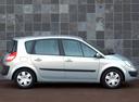 Фото авто Renault Scenic 2 поколение, ракурс: 270 цвет: серебряный
