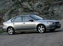 Фото авто Subaru Legacy 4 поколение, ракурс: 270 цвет: серебряный