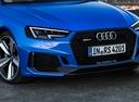 Фото авто Audi RS 4 B9, ракурс: передняя часть цвет: голубой