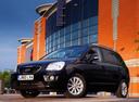 Фото авто Kia Carens 3 поколение [рестайлинг], ракурс: 45 цвет: черный