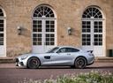 Фото авто Mercedes-Benz AMG GT C190 [рестайлинг], ракурс: 90 цвет: серебряный