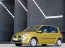 Фото авто Renault Scenic 2 поколение, ракурс: 45 цвет: желтый