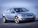 Фото авто Opel Astra J, ракурс: 315 цвет: голубой