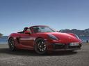 Фото авто Porsche Boxster 981, ракурс: 315 цвет: красный