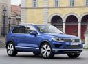 Фото авто Volkswagen Touareg 2 поколение [рестайлинг], ракурс: 315 цвет: синий
