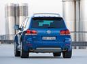 Фото авто Volkswagen Touareg 1 поколение [рестайлинг], ракурс: 180 цвет: синий