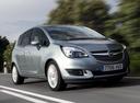 Фото авто Opel Meriva 2 поколение [рестайлинг], ракурс: 315 цвет: серебряный