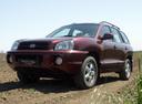 Фото авто Hyundai Santa Fe SM [рестайлинг], ракурс: 45 цвет: красный
