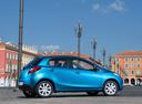 Фото авто Mazda 2 DE [рестайлинг], ракурс: 270 цвет: голубой