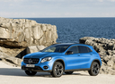 Фото авто Mercedes-Benz GLA-Класс X156 [рестайлинг], ракурс: 45 цвет: голубой